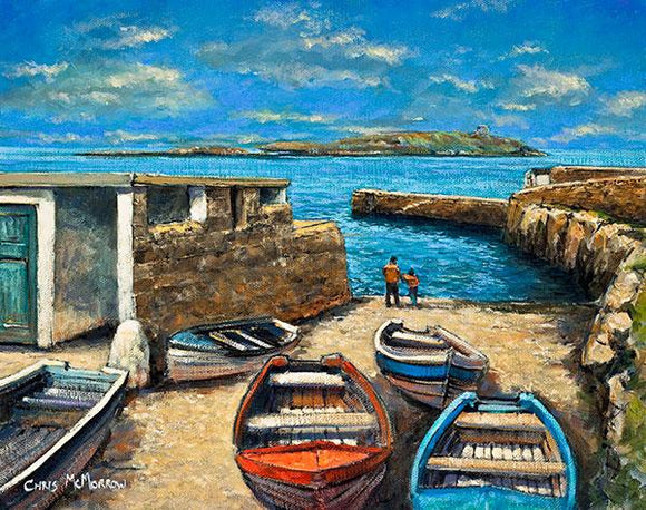Boats at rest in Coliemore Harbour, Dalkey, Co Dublin