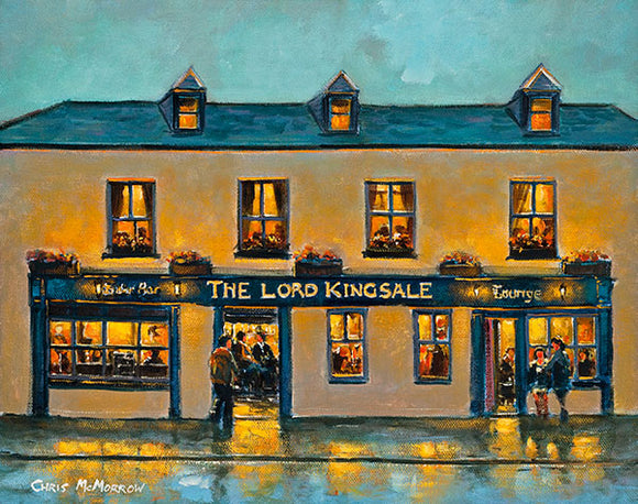 A painting of The Lord Kingsale Pub, Kinsale, Co Cork