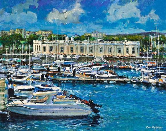 Painting of the Royal Irish Yacht Club, Dun Laoghaire