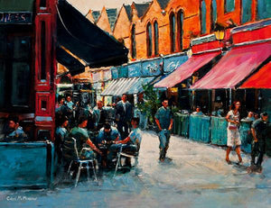 A painting of of Afternoon revellers, Castlemarket, Dublin