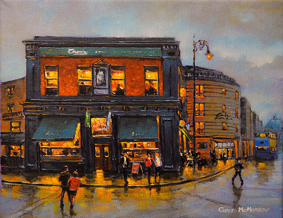 A painting of The Bleeding Horse Pub, Camden Street, Dublin