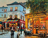 A painting of a Cafe, Montmartre, Paris