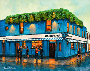 A painting of The Old Spot Pub, Beggars Bush, Dublin