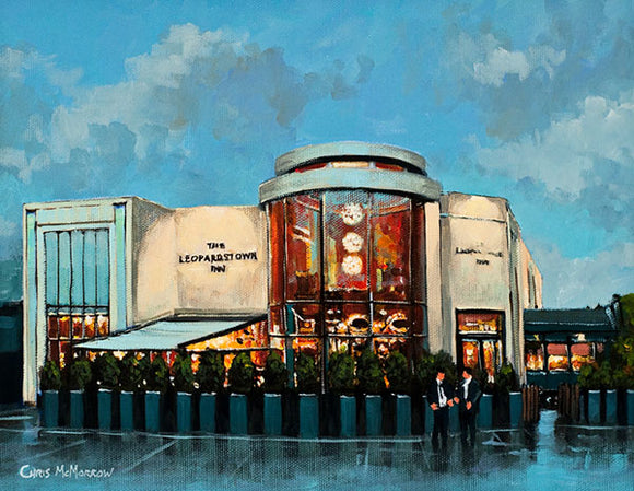 A painting of The Leopardstown Inn, Stillorgan, Co Dublin