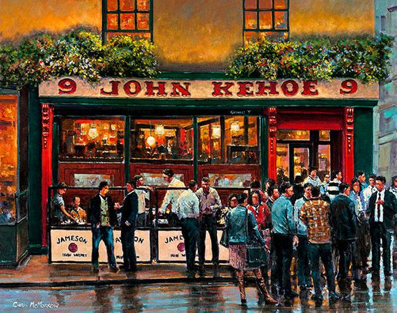 A painting of Evening Drinks, Kehoes, Dublin