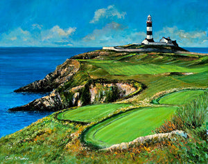 Painting of the Old Head of Kinsale and Lighthouse