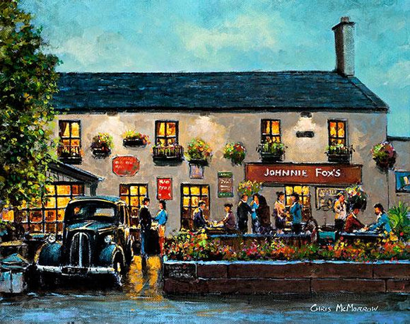 A painting of Johnny Fox's Pub, Dublin
