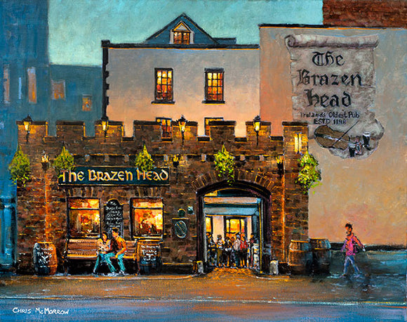 A painting of The Brazen Head Pub, Dublin