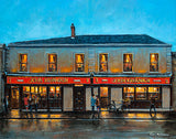 A painting of the Gravediggers Pub beside Glasnevin Cemetery, Dublin