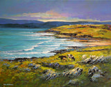 A painting of the coast near Lahinch, Co Clare