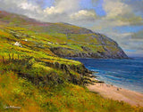A painting of the strand at Coumeenole, Co Kerry