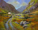 A landscape painting of the Gap of Dunloe, Co Kerry