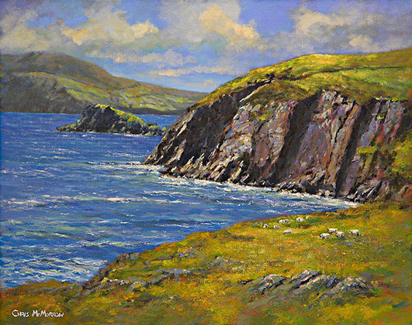 A landscape painting of Slea Head, Co Kerry