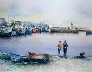 A painting of a soft day at Howth Harbour