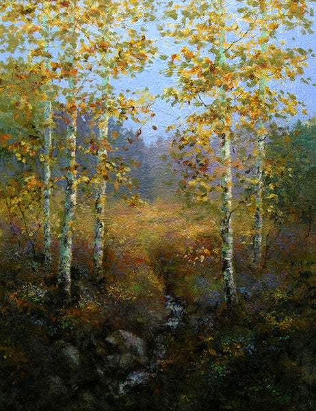 Poplar Trees painting