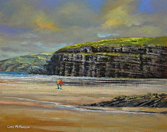 A painting of the beach at Ballybunion, Co Kerry