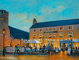 The Painting of the Queens Bar, Dalkey in the early evening