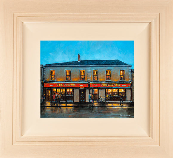 Original 12x10 inch painting of the Gravediggers Pub, Glasnevin, Dublin