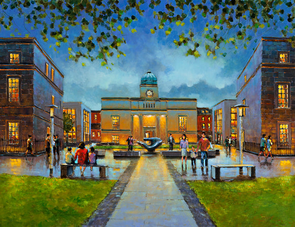 A painting of Tyrone House, Department of Education, Marlboro Street, Dublin.