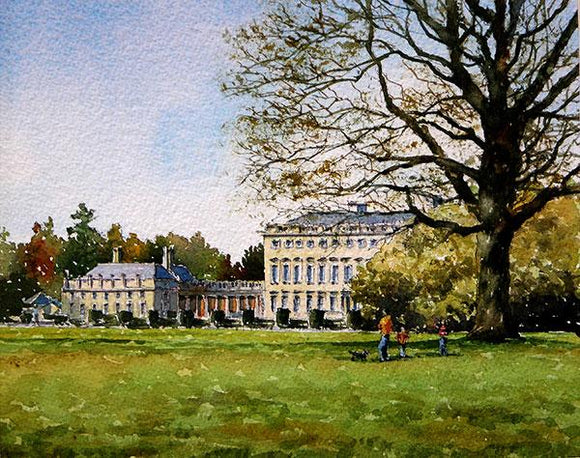 A painting of Castletown House, Celbridge, Co Kildare