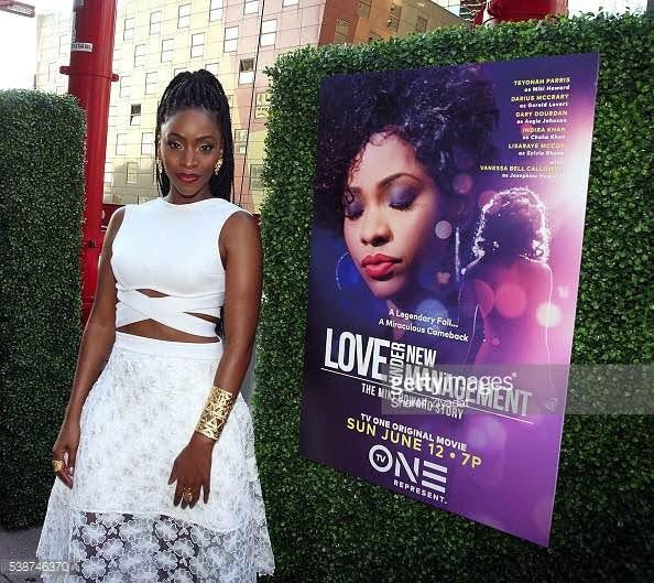 Teyonah Parris Styled in Muehleder For