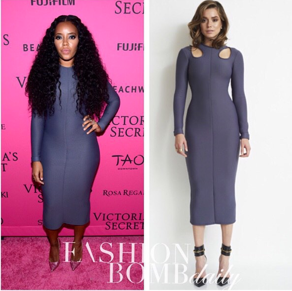 Angela Simmons Muehleder Grey Dress