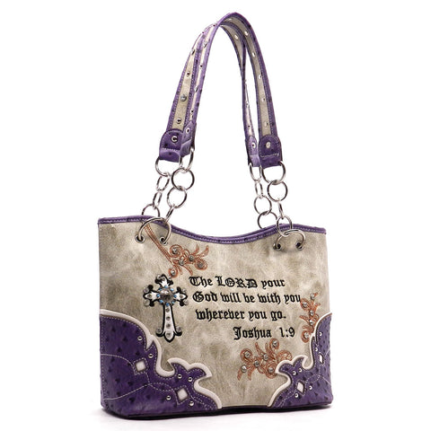 Western Scripture - Concealed Weapon Handbag-Purple
