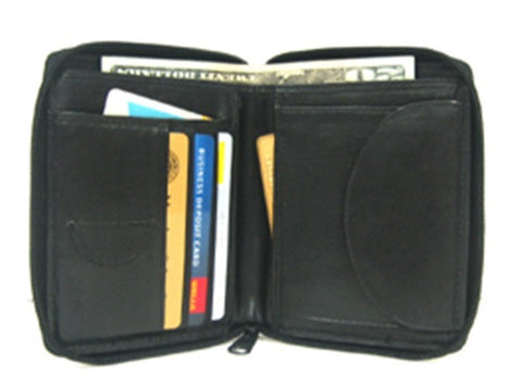 Zippered Wallet - Leather