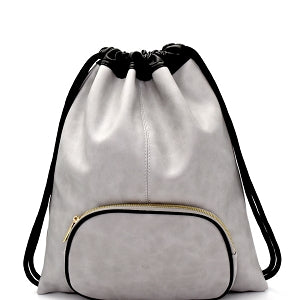 Lightweight Drawstring Fashion Backpack