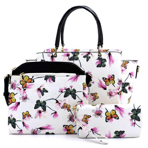 3-in-1 Butterfly Printed Shopper Set