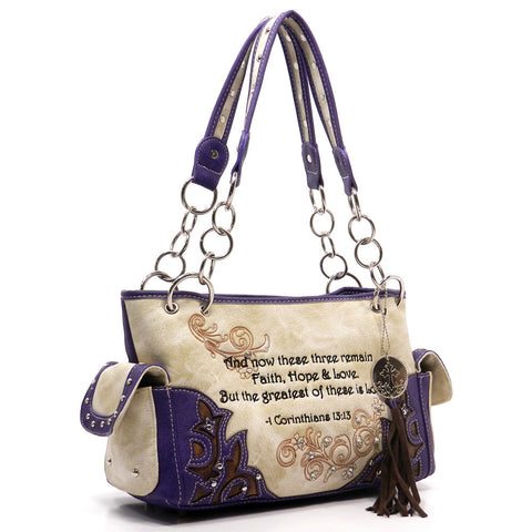 Western - Scripture Handbag - Concealed weapon