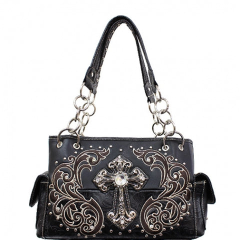 Western - Cross concealed weapon handbag