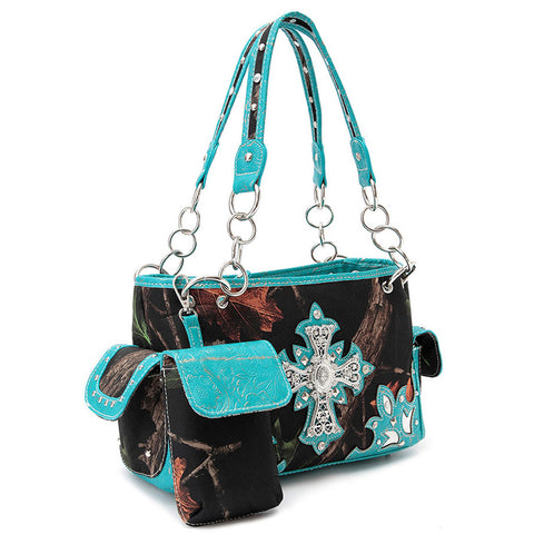 Western Cross Camouflage Shoulder Bag - Concealed weapon
