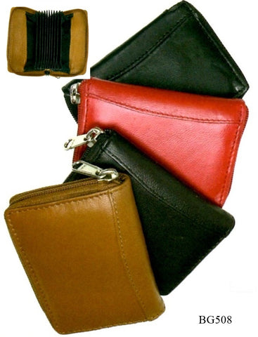 Leather - Zippered Credit Card Wallet