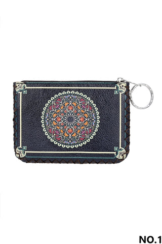 Graphic Coin Purse - Ethnic Circle