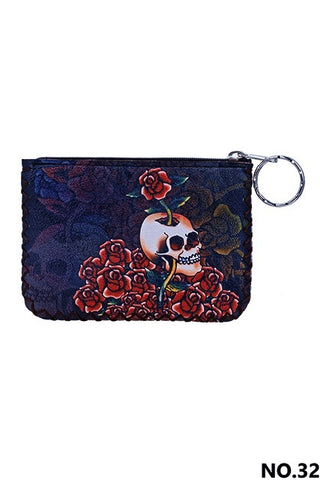 Graphic Coin Purse - Sugar Skull