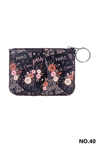 Graphic Coin Purse - Paris