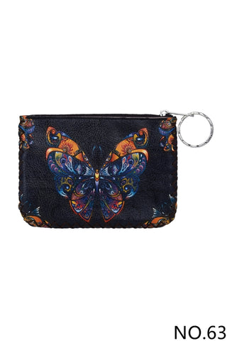 Graphic Coin Purse - Butterfly