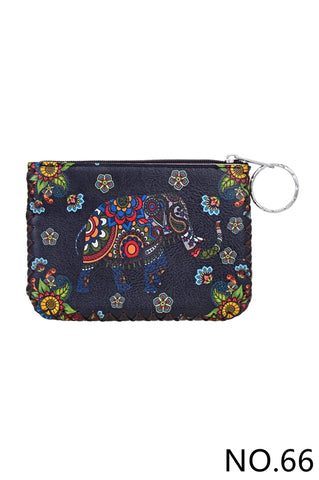 Graphic Coin Purse - Elephant