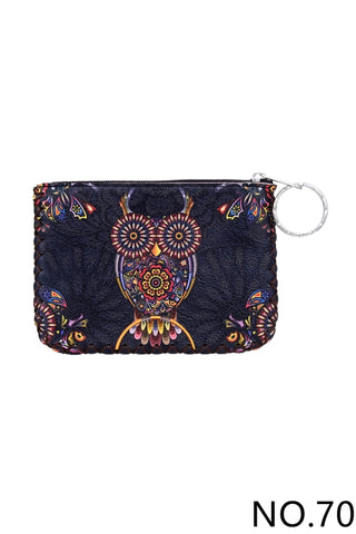 Graphic Coin Purse - Owl