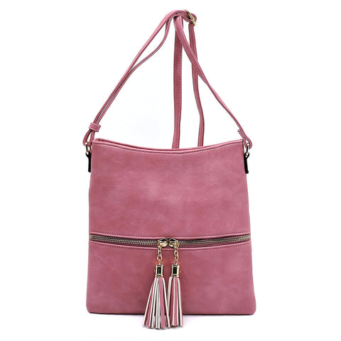 Zip Tassel Crossbody Bag