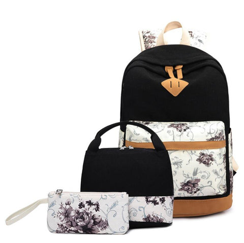 Backpack - 3 pieces - Lunch Bag, Backpack, Pencil bag