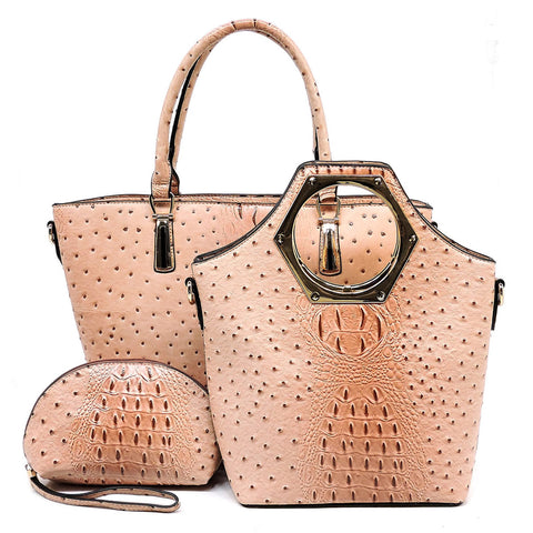Ostrich Croc 3-in-1 Shopper