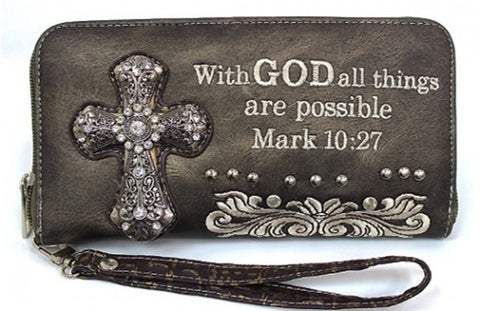Wallet - Scripture - With God all things are possible