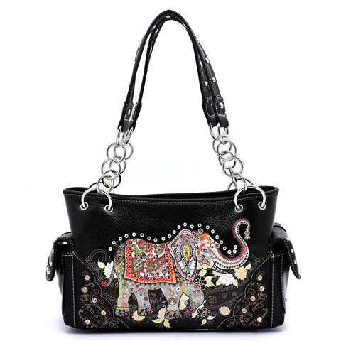 Western - Concealed Weapon Handbag - Elephant