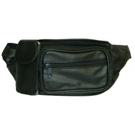 "Lambskin Leather Fanny Pack - 5"" x 12"" x 4.5"" 1.25"""