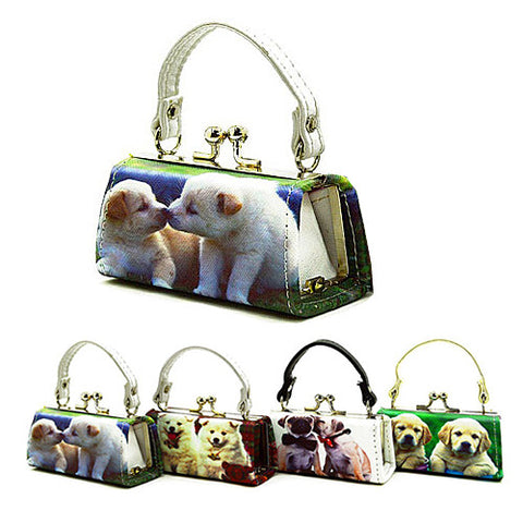 Lipstick - Coin Purse - Dog Print