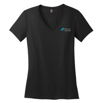 District® Perfect Weight® V-Neck Tee LADIES (DM1170L)