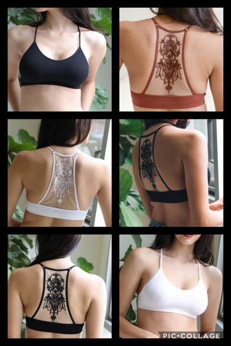 Tattoo back bralette
