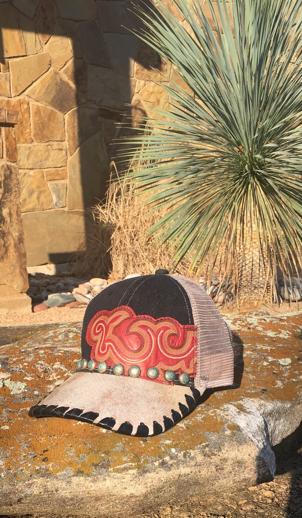 Embellished trucker hat